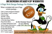 6 Page Web Design Package Only $200 No Hidden Fees